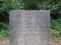 Major Peter Labellière's grave stone